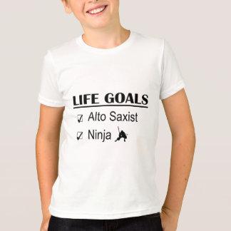 T-shirt Buts de la vie de Ninja de saxo d'alto