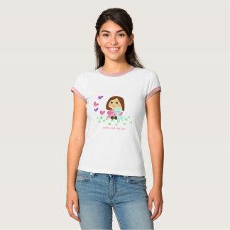 T-shirt «Butterflies» de plage avec des douilles