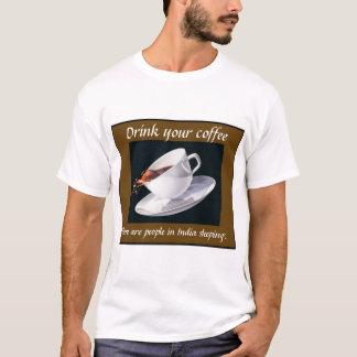 T-shirt Buvez de votre café