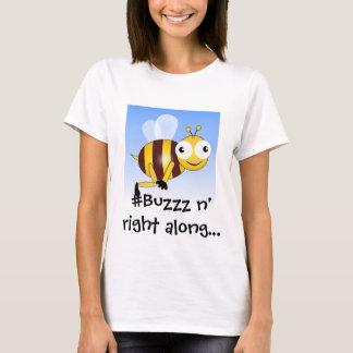 T-shirt Buzzz de mot d'onomatopée, bruit pour des abeilles