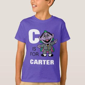 T-shirt C est pour le compte von Count que | ajoutent