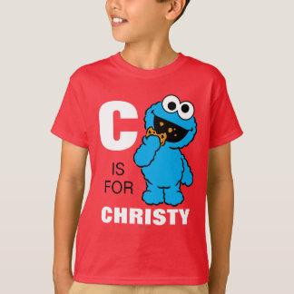 T-shirt C est pour le monstre de biscuit que   ajoutent