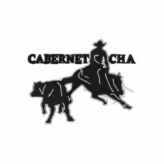 T-shirt Cabernet CHA Blanc Brodé Noir