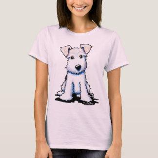 T-shirt Câblez le bébé adapté par dames de Fox Terrier -