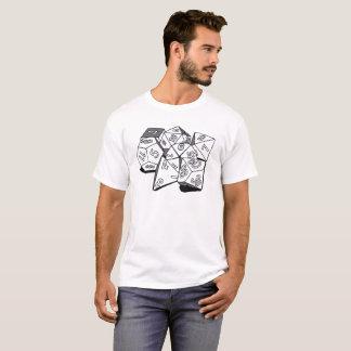 T-shirt Cachots et dragons : Ensemble de matrices