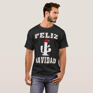 T-shirt Cactus de Feliz Navidad avec Noël de casquette de