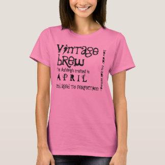 T-shirt Cadeau d'anniversaire en avril V04 soutenu par