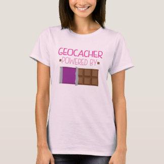 T-shirt Cadeau de chocolat de Geocacher pour elle