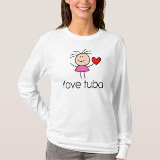 T-shirt cadeau de tuba d'iLove