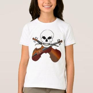 T-shirt Cadeau drôle de musique de crâne de pirate de