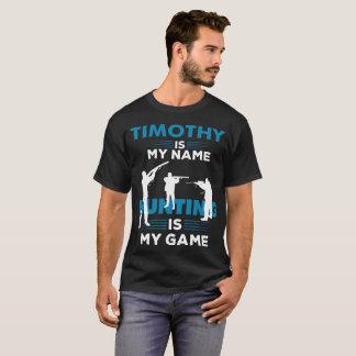 T-shirt Cadeau nommé d'habillement de chemise de Timothy
