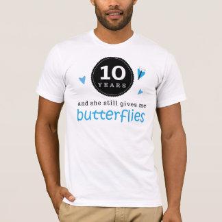 T-shirt Cadeau pour le 10ème papillon d'anniversaire de