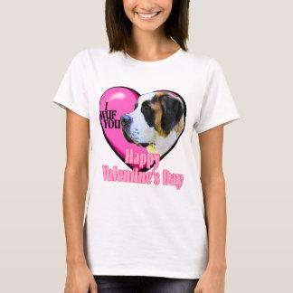 T-shirt Cadeaux de Saint-Valentin de St Bernard