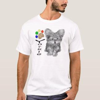 T-shirt Cadeaux mignons d'art de chien et d'empreinte de
