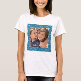 T-shirt Cadre de frontière de photo avec la conception
