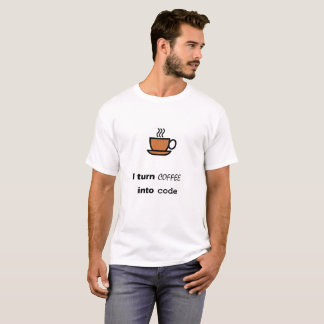 T-shirt Café dans le code