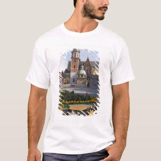 T-shirt Café donnant sur la cathédrale de Wawel, colline