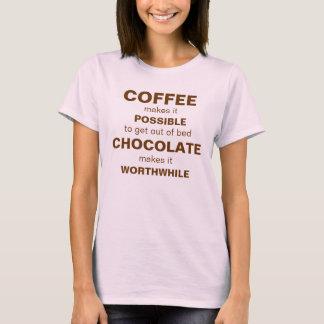 T-shirt CAFÉ et chocolat