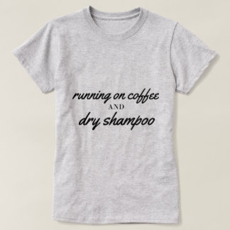 T-shirt Café et pièce en t sèche de shampooing
