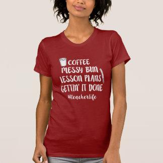 T-shirt Café, petit pain malpropre, plans de cours,