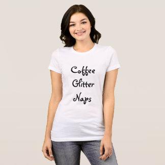 T-shirt Café, scintillement, petits sommes