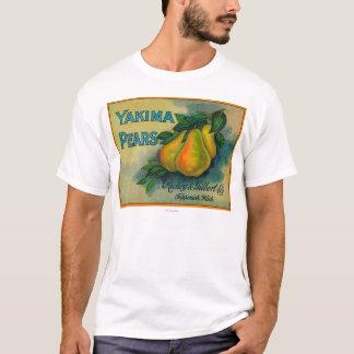 T-shirt Caisse LabelToppenish, WA de poires de Yakima