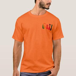 T-shirt Cali teignent en nouant la pièce en t hippie de