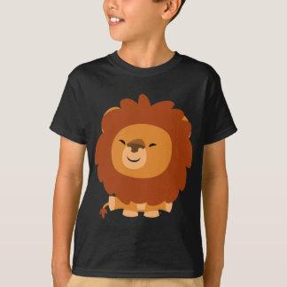 T-shirt câlin mignon d'enfants de lion de bande