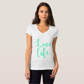 T-shirt Calligraphie de la vie d'amour