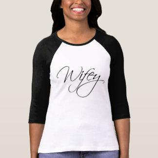 T-shirt Calligraphie de Wifey