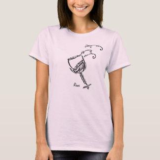 """T-shirt Calligraphie persane de poème de Rumi """"le vin """""""