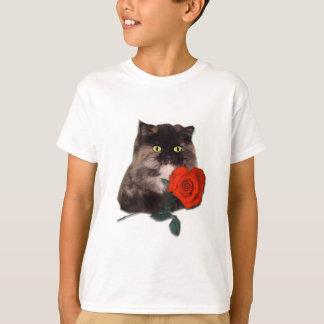 T-shirt Cally avec le Persan en forme de coeur rouge de