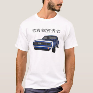 T-shirt Camaro 1967 solides solubles : Finition bleue :