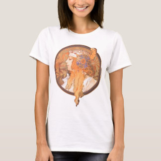 T-shirt Camée de portrait de medalion de tête de femme de