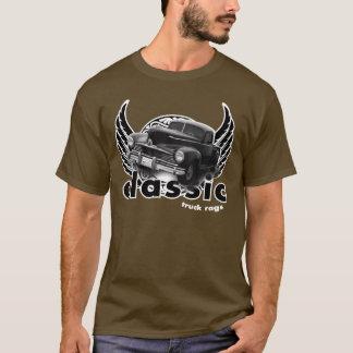 T-shirt Camion classique noir à ailes