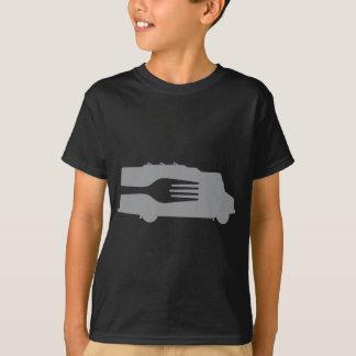 T-shirt Camion de nourriture : Côté/fourchette (grise)