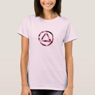 T-shirt CAMO de sobriété de récupération de cercle