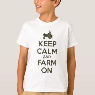 T-shirt Camo gardent le calme et cultivent dessus