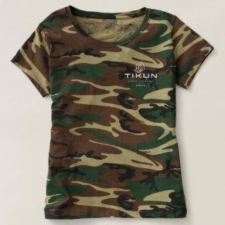 T-shirt Camo T des femmes de logo de Tikun