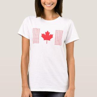 T-shirt canadien de drapeau de Vizsla des femmes