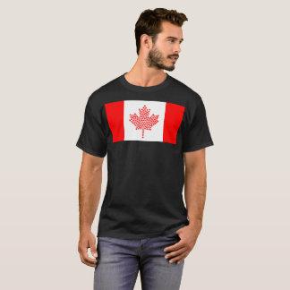 T-shirt canadien de nation de drapeau
