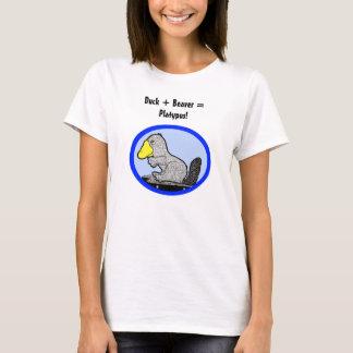 T-shirt Canard + Castor = ornithorynque !