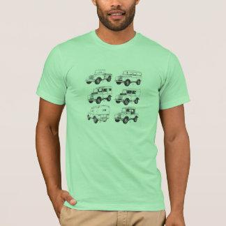 T-shirt Canard vintage classique de randonnée de voiture