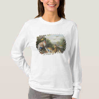 T-shirt Canards dans un paysage de rivière