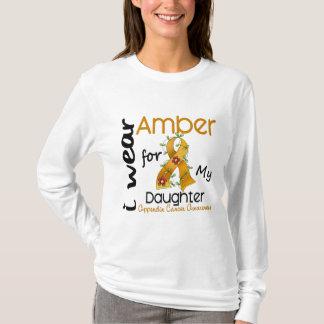T-shirt Cancer d'annexe je porte l'ambre pour ma fille 43