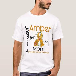 T-shirt Cancer d'annexe je porte l'ambre pour ma maman 43