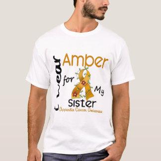 T-shirt Cancer d'annexe je porte l'ambre pour ma soeur 43