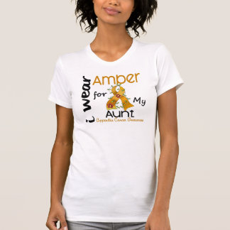 T-shirt Cancer d'annexe je porte l'ambre pour ma tante 43