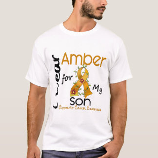 T-shirt Cancer d'annexe je porte l'ambre pour mon fils 43