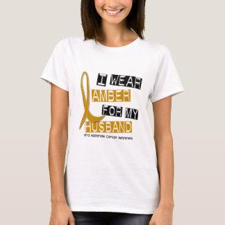 T-shirt CANCER d'ANNEXE je porte l'ambre pour mon mari 37